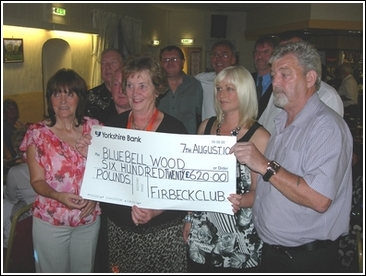 Cheque presentation to Bluebell Wood