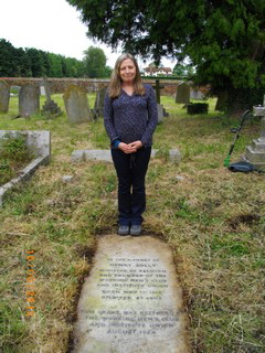 Ruth at Henry Solly's grave