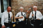 Sam Wood - 'This shows three of us playing at Burnage Rugby Club near Stockport, after the funeral of local jazz musician Bill Oldham in March 2010.  Soon after that Stan phoned me about playing at Woolley Bridge.'